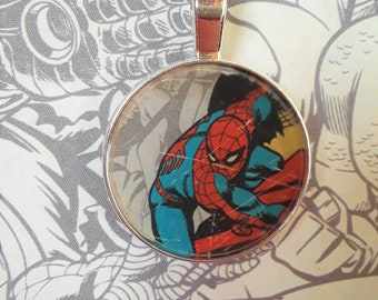 "1"" Spiderman Necklace"