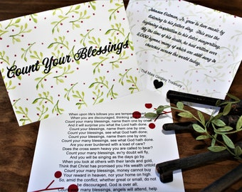 Count Your Many Blessings Greeting Card