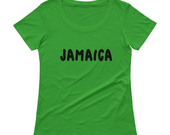 e05254dd Jamaica T-Shirt | jamaican countries vacation gift womens tee t shirt  clothes caribbean green tshirt negril travel no problem souvenir top