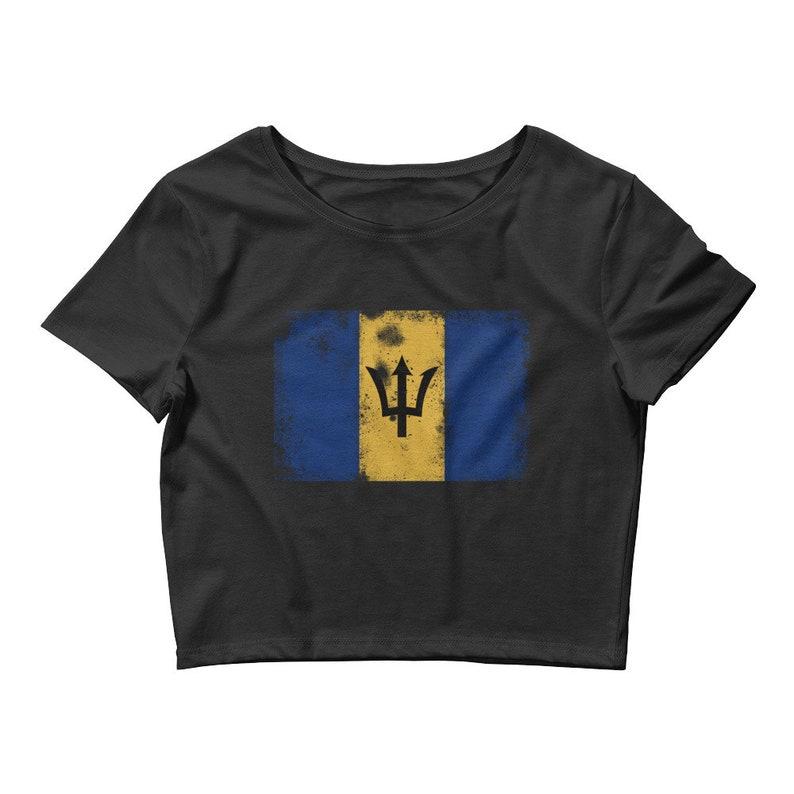 1373cf47 Barbados Vintage flag crop top Barbados print Crop Tee shirt | Etsy
