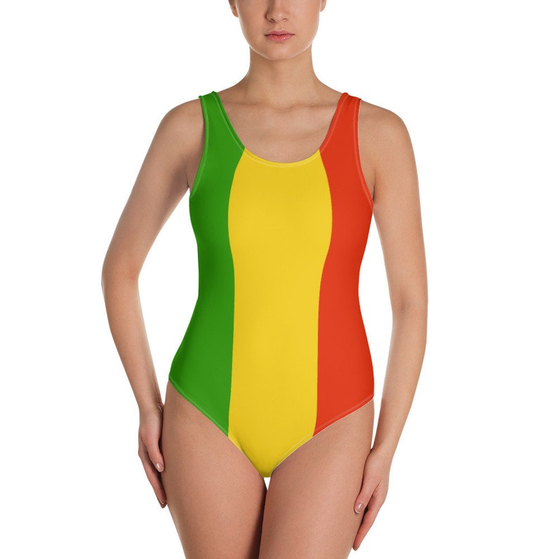 e7f1518ffe1c8 Rasta One-Piece Swimsuit for Women Rasta swimwear | Etsy