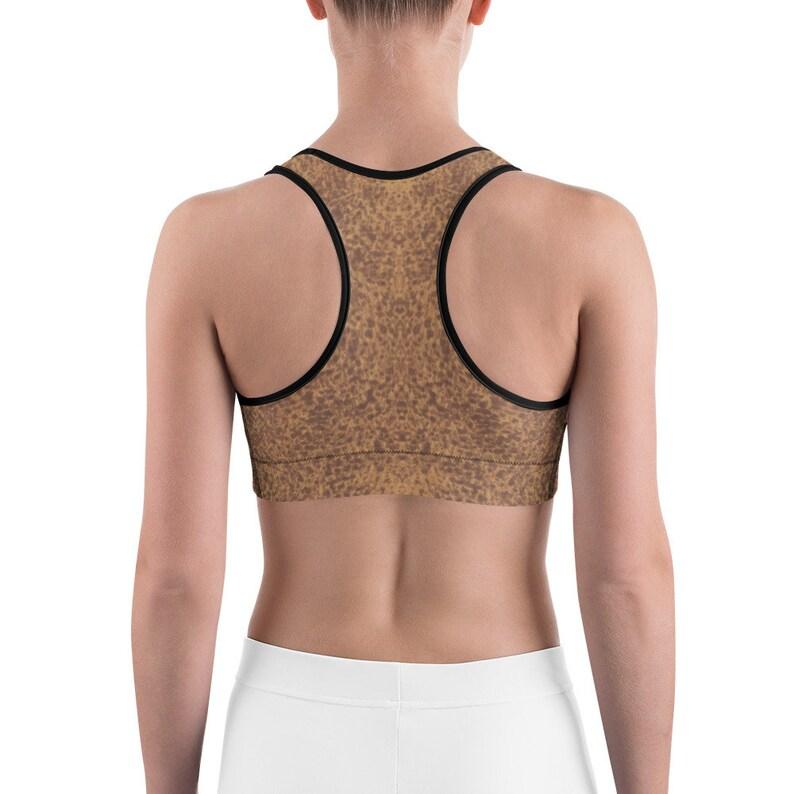 ee31576459 Sports bra Leopard print sport bra yoga top Cheetah Animal