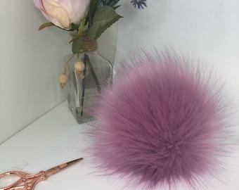 NEW - Purple faux fur pom pom. Detachable option