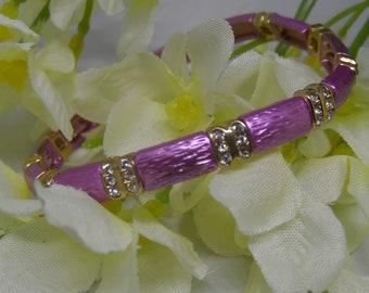 Purple with Diamond Accent Bracelet