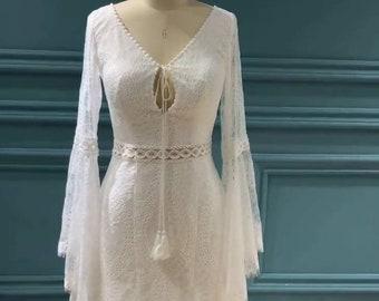 "Breath Taking ""Indi"" Sister Bohemian Wedding Dress Of Riley and Sky Custom Made Like No Other!"