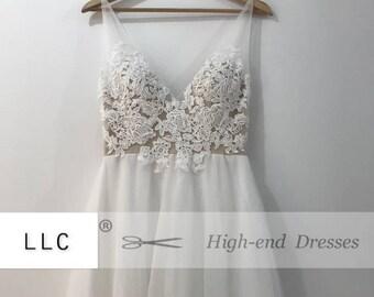 "Breath Taking Bohemian Wedding Dress ""Artis"" Like No Other! Custom Made"