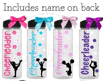 Cheerleading Water Bottle/Gift for Cheerleader/sports water bottle/Personalized water bottle