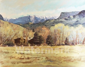 Valley Ranch  Fine Art Painting by Peter V Cramblit 16X20X1 2010