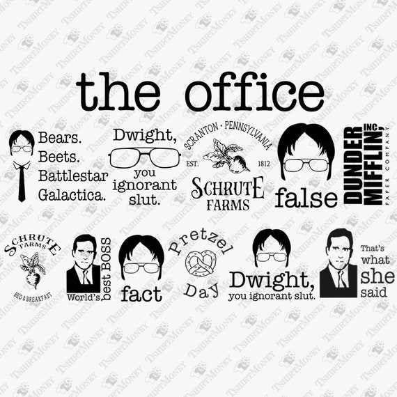 Talk Show Office Interior Design: The Office Show MEGA SVG Bundle Office TV Series Set Svg