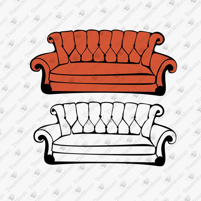 Friends Show Sofa Svg Friends Show Couch Svg Couch Sofa Svg Etsy