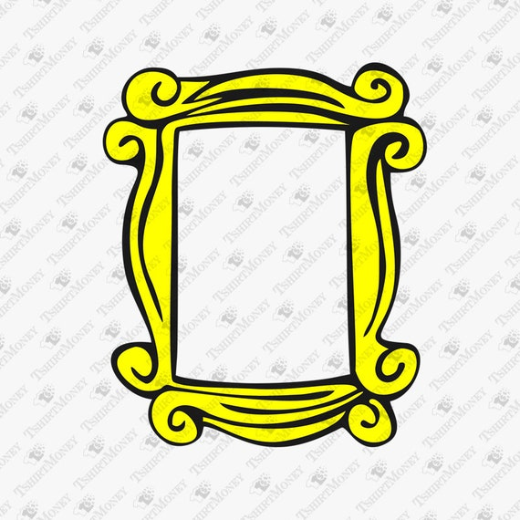 Friends TV Show Peephole Frame SVG Friends Show Cut File | Etsy