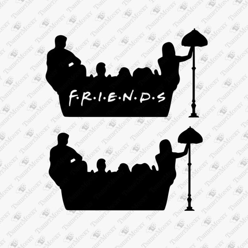Friends Tv Show Svg Friends Couch Cut File Friends Show Sofa Etsy
