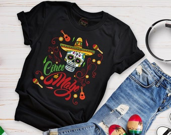 4473e932d99 Mexican Crazy Skull shirt is Cinco de Mayo Sugar Skull illustration. This  is 100% Super Soft Cotton Shirt for Womens. CHIDAShirtS  25.99. Favorite.  Add to
