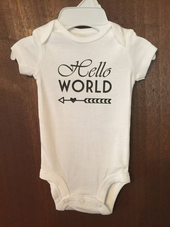 109d893940e8 Custom Baby Bodysuit Baby Clothes One Piece Outfit Vinyl Hello