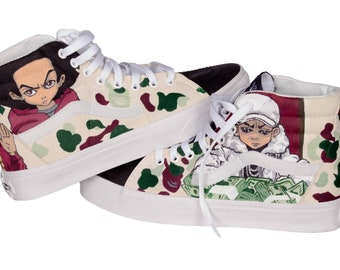 424dca503bd Custom Vans - Waterproof Vans - Anime Vans - Boondocks Vans - Casual Vans - Art  Shoes
