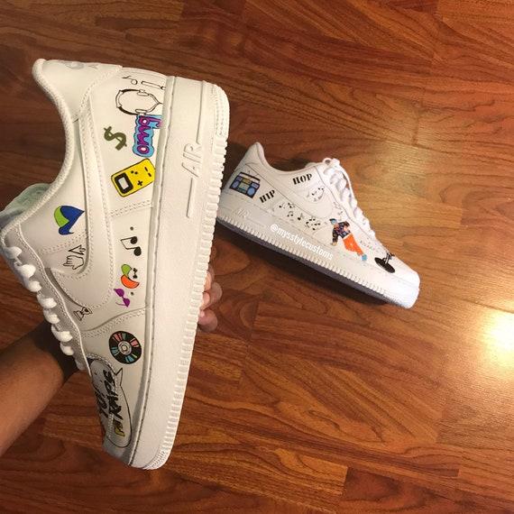 80s VS 90s Custom Nike Air Force Ones