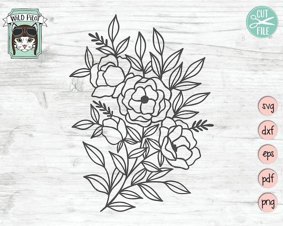 floral svg Flowers svg bouquet svg