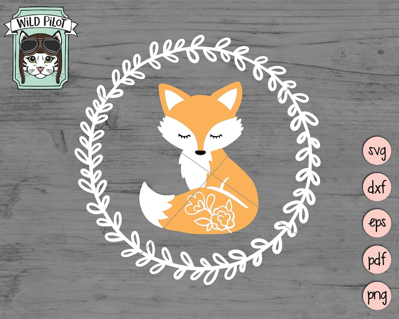 Fox SVG, Cute Fox svg, Fox Clip Art, fox svg file for Cricut, cute fox  clipart, cute fox vector, cute fox cut file, Wreath, commercial use