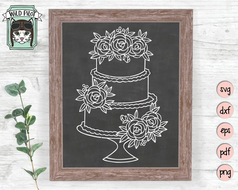 Wedding Cake SVG file Wedding svg Wedding Cake cut file image 0