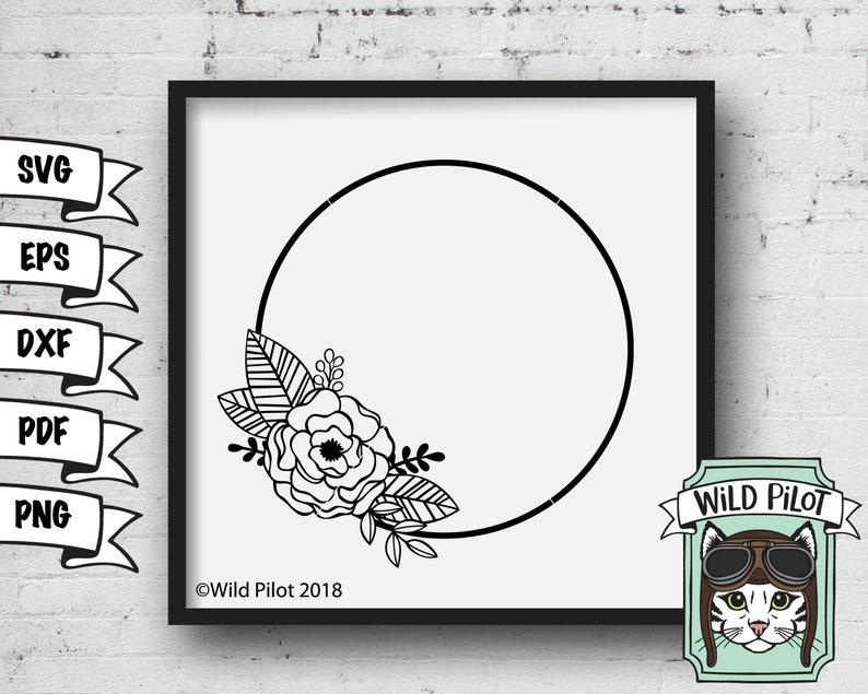 462cd74da99 Monogram Frame SVG Monogram Wreath SVG Monogram SVG Wreath