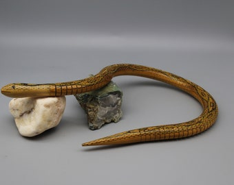 Soviet Flexible snake Toy Vintage Wooden snake Handmade wooden toy Ideas for gifts