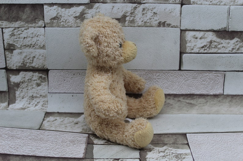 Toy from the 70s.Embroidery.Embroidered Toy. Children/'s Plush Toy.Teddy Bear .Vintage Teddy Bear