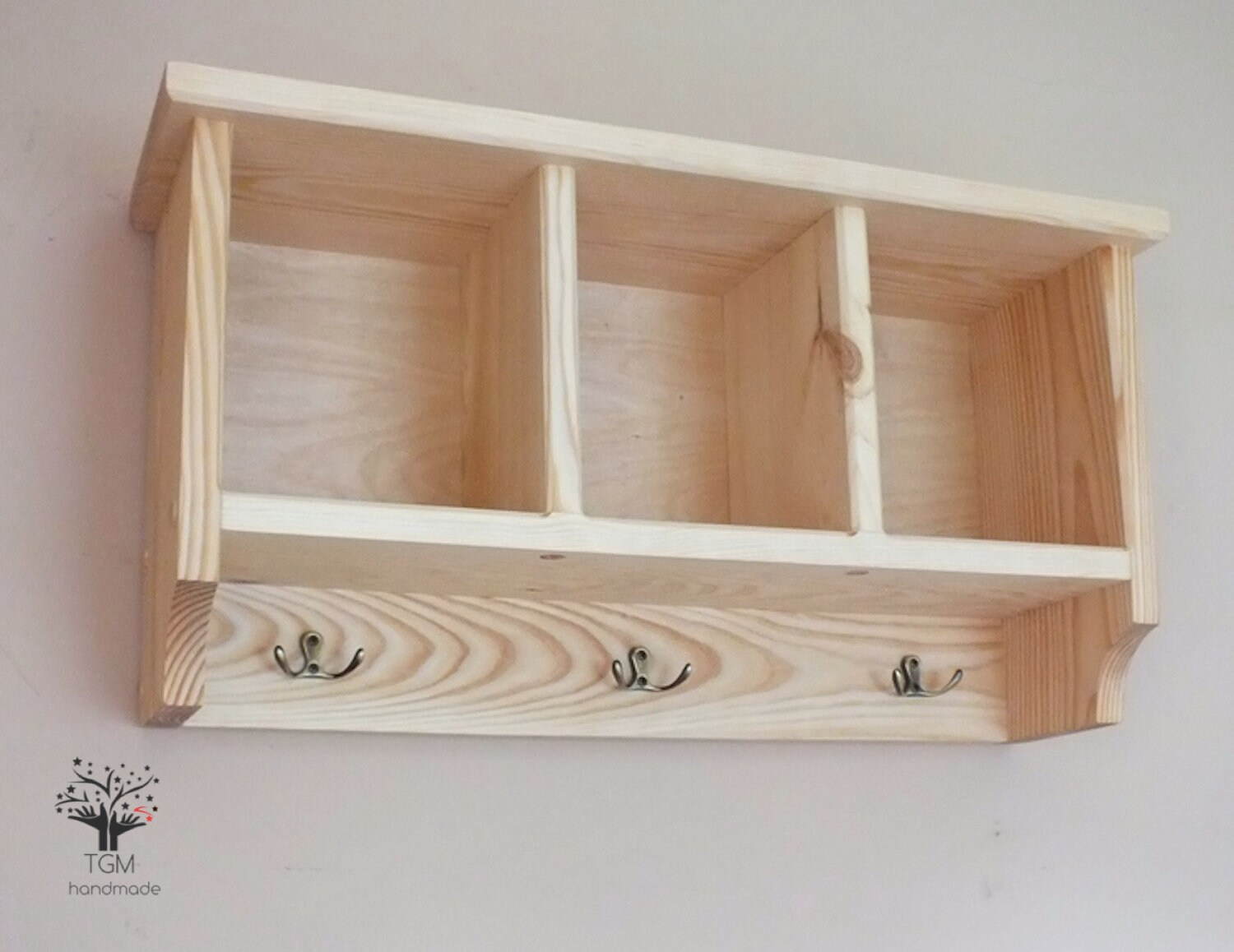 Wall Mounted Shelving Unit With Hangers Hanging Cupboard Storage Cabinet