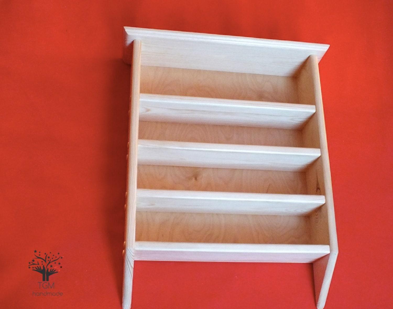 Wall Mounted Shelving Unit Solid Pine Shelf 62 Cm X 52 Cm Wooden Shelf