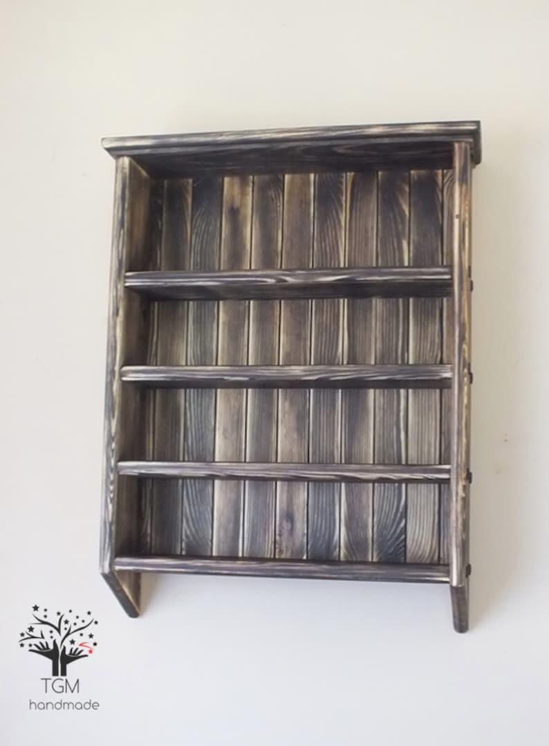 Wall Mounted Shelving Unit Solid Pine Shelf 52 Cm X 65 Cm Wooden Shelf