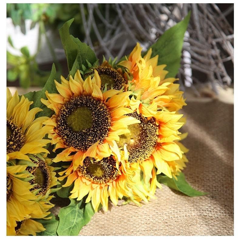 Elegant Sunflower bush artificial keepsake flowers artificial sunflower silk flowers yellow sunflowerDY