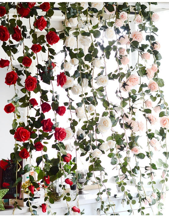 Artificial Flower Wreath Flower Garland Backdrop Wholesale 18 Etsy