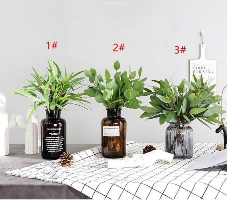Artificial Plants Fake Money Leaf Eucalyptus Green Silk Flowers Home Decor UK CA