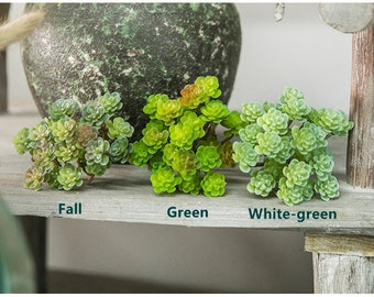 Fake succulents - Pick with 24/34 Artificial Mini Succulents in Frosted Green -Faux succulents - artificial succulents