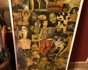 Fabulous Vintage 1970's Framed Collage