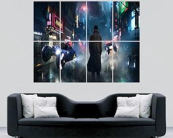 Bladerunner Movie poster print Sc fi fantasy  giant wall art print huge image cinema