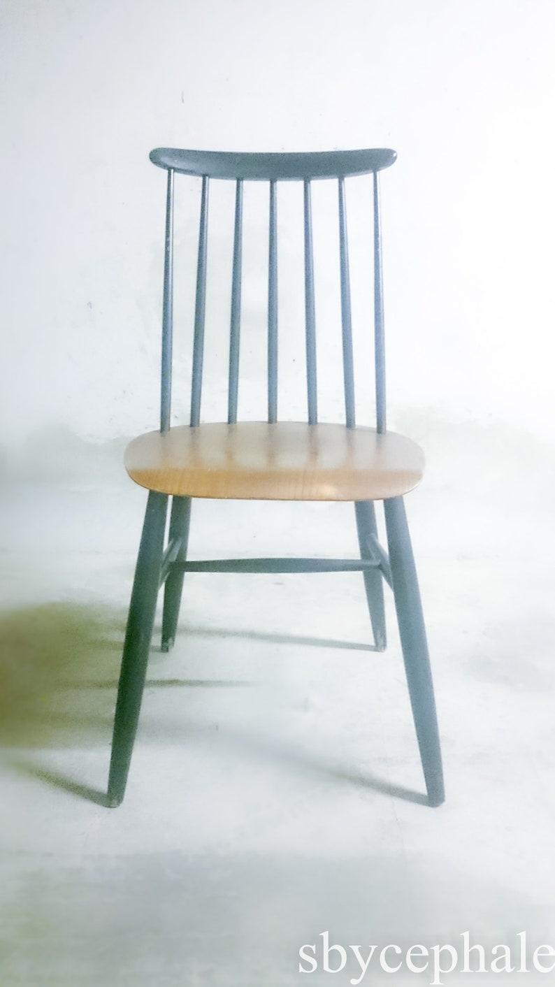 Vintage Fanett chair by Ilmari Tapiovaara seat Mid century modern 20th century scandinavian design