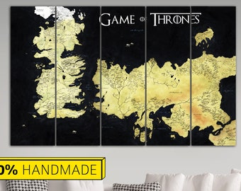 Game of thrones map etsy the known world game of thrones westeros map world map print game of thrones map colorful map world art canvas wall world map decor gumiabroncs Image collections