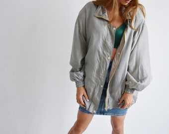 8ba78aa33 100% silk bomber jacket, 90s bomber jacket, Vintage silk jacket, Vintage  sportswear, Unisex oversize sports jacket , 80s silk jacket