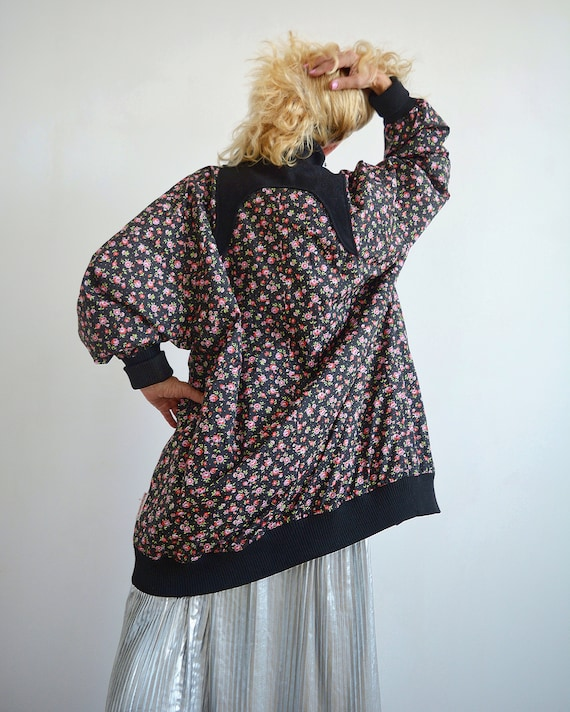 Floral vintage light jacket, vintage windbreaker,