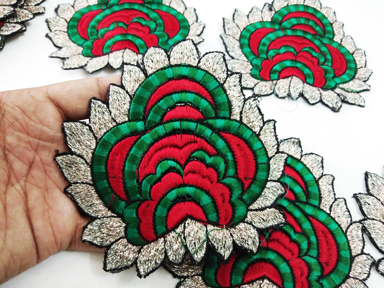 Handmade flower design rhinestone applique for wedding dresses for