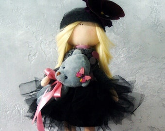 Interior doll. Textile doll. Exclusive doll