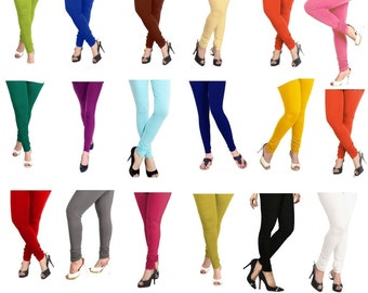 0c6e5f01c9fc Churidar Indian Leggings Women 100 % Cotton Stretchable Lycra Yoga Ethnic  Legging Comfortable pants Casual Trouser One Size fits all