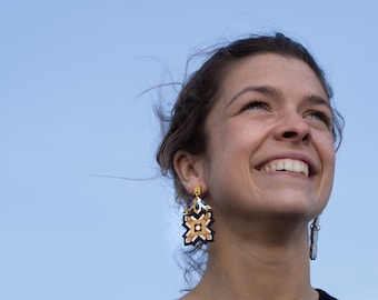 star shaped earrings handpainted from Barcelona