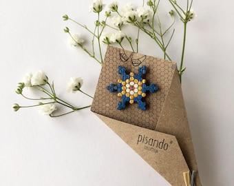 Star shaped bue pin , Barcelona, Pisando Barcelona, design from barcelona