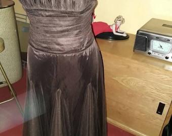 Prom Strapless evening vintage style dress