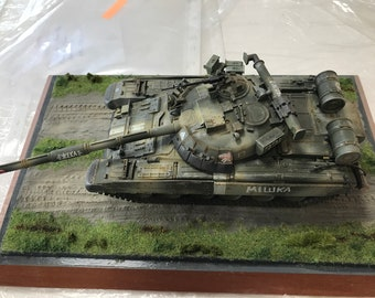 1:35 Scale Model . Tank T-80UD, ATO Ukraine, Present Day + support-founding