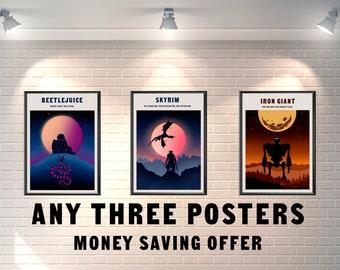 Wählen Sie Alle 3 Poster, Die Geld Sparen Angebot Großhandelspreis  Minimalistischen Film Poster Wohnheim Zimmer Dekorationen Minimal Film  Drucke