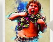 Goonies Chunk Art Poster Print - Wall Art Jeff Cohen - Various Sizes