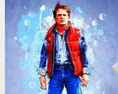 Marty McFly Back To The Future Art Poster Print - Wall Art Michael J Fox