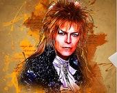 Labyrinth Jareth Art Poster Print - Wall Art David Bowie - 80s Movie